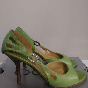 Green heels size 39